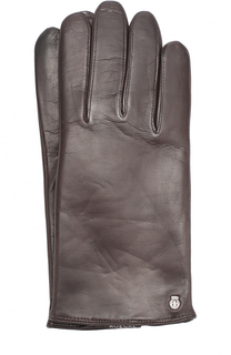 Кожаные перчатки с шерстяной подкладкой Roeckl