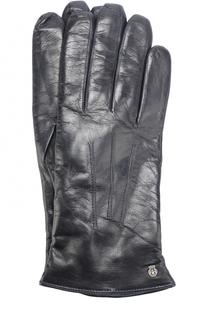 Кожаные перчатки с подкладкой из смеси шерсти и кашемира Roeckl