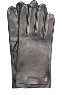 Кожаные перчатки с шелковой подкладкой Roeckl