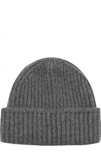 Кашемировая шапка фактурной вязки с отворотом TSUM Collection
