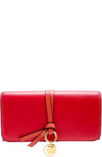 Кожаное портмоне с подвеской Chloé