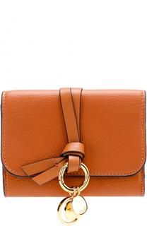 Кожаный кошелек с подвеской Chloé