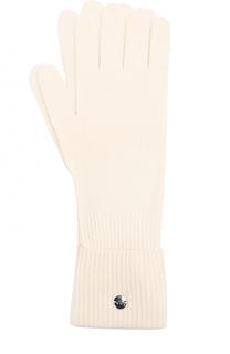 Вязаные перчатки из смеси шерсти и кашемира Escada Sport