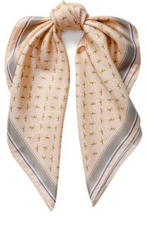 Шелковый платок с принтом Escada Sport