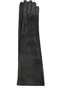Удлиненные замшевые перчатки Sermoneta Gloves