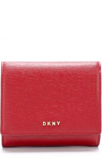 Кожаный кошелек с клапаном с логотипом бренда DKNY