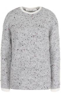Пуловер прямого кроя с круглым вырезом Victoria by Victoria Beckham