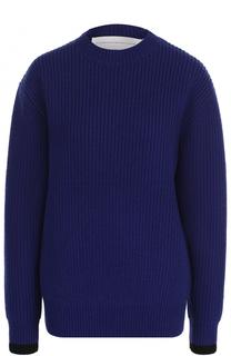 Шерстяной пуловер фактурной вязки Victoria by Victoria Beckham
