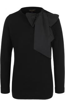 Шерстяной пуловер с бантом Escada