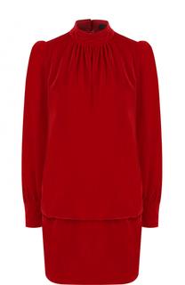 Платье с рукавом-фонарик и воротником-стойкой Marc Jacobs