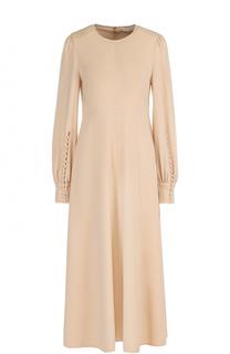 Приталенное шерстяное платье-миди Chloé