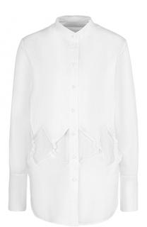 Хлопковая блуза с воротником-стойкой Victoria by Victoria Beckham