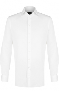 Хлопковая сорочка с воротником кент Giorgio Armani