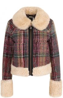 Укороченная куртка с отделкой из меха ягненка Chloé