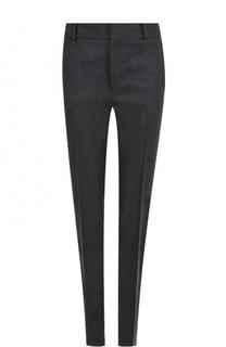 Шерстяные брюки прямого кроя со стрелками Saint Laurent