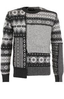 Шерстяной свитер асимметричного кроя Alexander McQueen