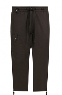 Шерстяные укороченные брюки с заниженной линией шага Y-3