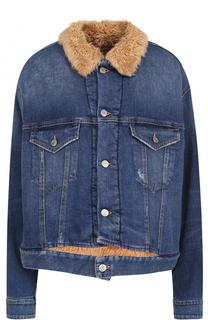 Джинсовая куртка свободного кроя Golden Goose Deluxe Brand