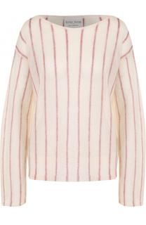 Пуловер свободного кроя с вырезом-лодочка Forte_forte