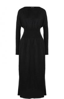Приталенное платье-миди с вырезом-лодочка Giorgio Armani