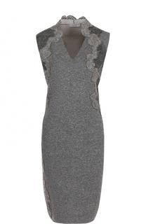 Вязаное платье-футляр с кружевной отделкой D.Exterior