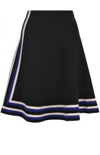 Шерстяная расклешенная юбка Lanvin