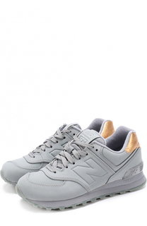 Текстильные кроссовки 574 на шнуровке New Balance