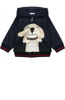 Хлопковый кардиган с принтом Dolce & Gabbana