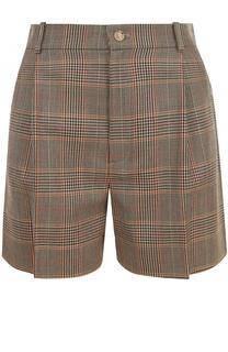Шерстяные мини-шорты с защипами Ralph Lauren