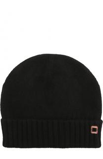 Кашемировая шапка фактурной вязки с отворотом Colombo