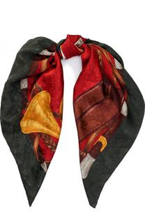 Шелковый шарф с принтом Ralph Lauren