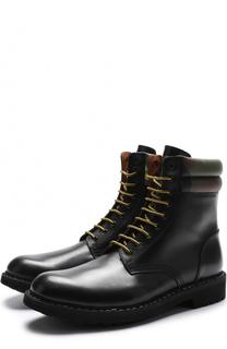 Высокие кожаные ботинки на шнуровке Givenchy