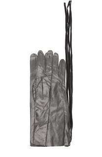 Кожаные перчатки с декоративной молнией Ann Demeulemeester