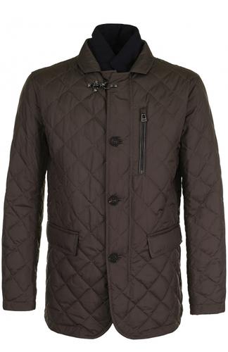 Стеганая куртка на молнии с отложным воротником Windsor