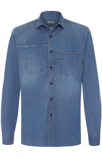 Джинсовая рубашка с потертостями Lanvin