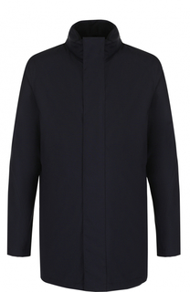 Шерстяная удлиненная куртка на молнии с воротником-стойкой Z Zegna