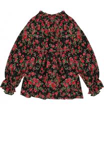 Шелковая блуза с принтом Dolce & Gabbana