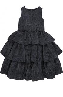 Многослойное платье-миди с бантом Oscar de la Renta