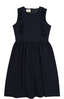 Платье из вискозы с оборками без рукавов Caf