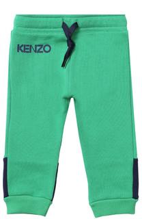 Хлопковые джоггеры с контрастной вставкой Kenzo
