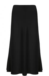 Однотонная юбка-миди St. John