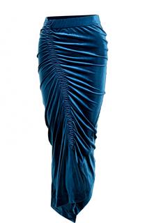 Бархатная юбка-карандаш с драпировкой PREEN by Thornton Bregazzi