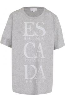 Футболка свободного кроя с надписью Escada Sport