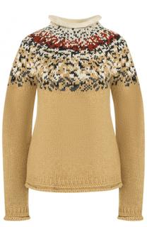 Шерстяной свитер с воротником-стойкой Acne Studios