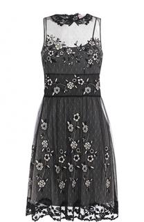 Кружевное приталенное платье без рукавов REDVALENTINO