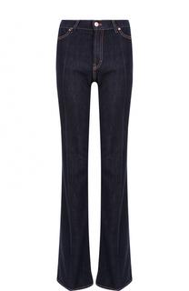 Расклешенные джинсы с контрастной прострочкой и стрелками Escada Sport