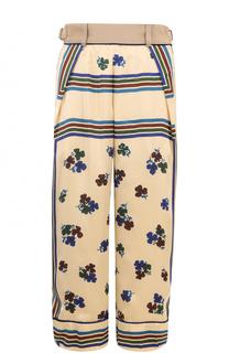 Укороченные брюки с карманами и принтом Sacai