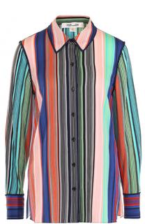 Шелковая блуза с контрастным принтом Diane Von Furstenberg