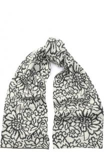 Кашемировый шарф с цветочным принтом TSUM Collection