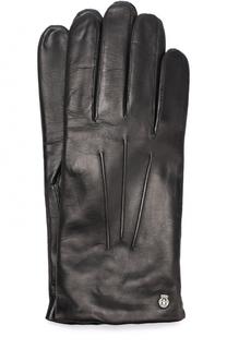 Кожаные перчатки с подкладкой из смеси кашемира и шерсти Roeckl